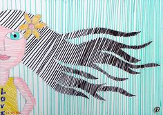 Nina Glushchenko. IES García Lorca, Algeciras (1ºA). Rotuladores de colores sobre lámina A4. Curso Escolar:14/15