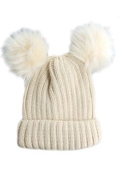 This adorable cable knitted double pom pom hat is the perfect way to complete your winter style. The double faux fur pom pom adds an element of fun to this winter necessity! Pair this beanie with any outfit to create a fun & cozy look. 100% ACRYLIC As seen on Caitlin from Southern Curls & Pearls #JessLeaBoutique