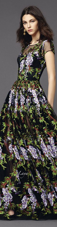 DOLCE & GABBANA 2015~ Everything coming up flowers in this collection!