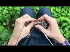 Portuguese knitting - Stranded knitting - YouTube