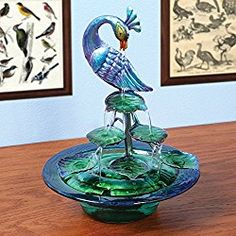 Decorative Glass And Metal Peacock Indoor Water Fountain *** You can get additio. - Decorative Glass And Metal Peacock Indoor Water Fountain *** You can get additional details at the - Peacock Colors, Peacock Art, Peacock Theme, Peacock Design, Peacock Images, Peacock Pictures, Peacock Wedding, Peacock Room Decor, Peacock Bathroom