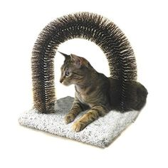 Brush and Scratch Traditional Carpet and Wood Non Toxic Made in the USA Scratching Board with Catnip - Reduces Hairballs and Matting *** Tried it! Love it! Click the image. : Cat scratching post