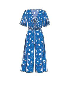 McCall M7756 Misses' Jumpsuits and Romper #sewingpattern