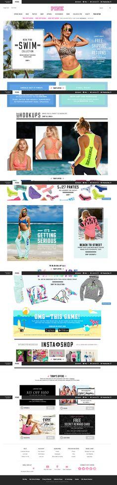 PINK - Victoria's Secret | ecommerce design | fashion ecommerce | fashion design | e-commerce |  fashion | design inspiration | ecommerce showcase | ecommerce inspiration