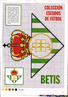 Escudos de futbol punto de cruz -