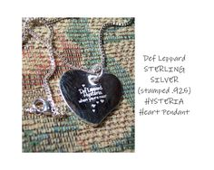 Hysteria, when you're near. DEF LEPPARD Secret Engravings - Custom Engravings by Janet