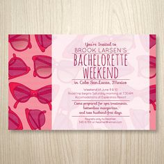 Beach Weekend Bachelorette Party Invites