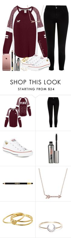 """Birthday Outfit!🎉 (sorry this is late, my birthday was Oct. 29)"" by itsfashion-5ever ❤ liked on Polyvore featuring River Island, Converse, Benefit, Sisley, Gorjana and I+I"