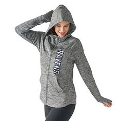NFL Women's Recovery Hoodie  http://allstarsportsfan.com/product/nfl-womens-recovery-hoodie/?attribute_pa_teamname=baltimore-ravens&attribute_pa_size=small-medium  Officially licensed NFL product Stretch fabrication for ease of movement Elongated cuffs with thumbholes and curved hems