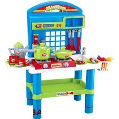 """28"""" Deluxe Kitchen Appliance Cooking Play Set 28"""" w/ Lights and Sound *** Want additional info? Click on the image."""
