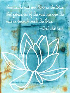 Mud Lotus Affirmation 6x8 Fine Art Print by ElizaTobin on Etsy, $15.00