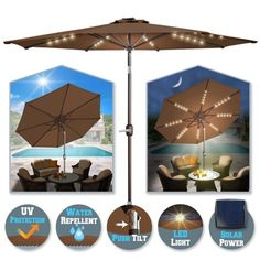 How To Use Umbrella Lights Impressive Amir Rechargeable Patio Umbrella Lights Cordless 28 Led Lights