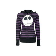 The Nightmare Before Christmas ❤ liked on Polyvore featuring outerwear, jackets, hoodies, tops and sweaters