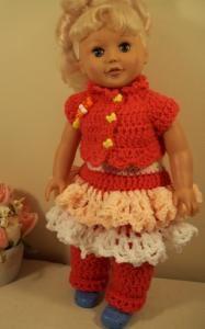 Ruffly Bits - 18 doll -image intense - Free Original Patterns - Crochetville