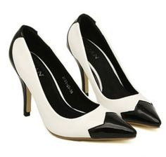 wholesale Hot high heels office lady contrast color stiletto pumps SY-C2850