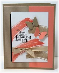 SU fabulous work of art and butterflies card by Becky