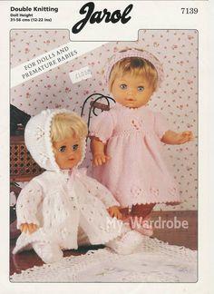 Ideas For Baby Dress Pattern Free Pdf Doll Clothes Knitting Dolls Clothes, Baby Doll Clothes, Knitted Dolls, Doll Clothes Patterns, Baby Dolls, Dress Clothes, Baby Knitting Patterns, Baby Patterns, Knitted Doll Patterns