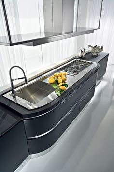 Artika Line. The original curved kitchen. An Italian kitchen design classic