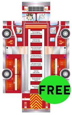 Fire Truck Craft, Printable Crafts, Free Printable, Truck Crafts, Firefighter Birthday, Fireman Sam, Activity Sheets, Paper Models, Childrens Party