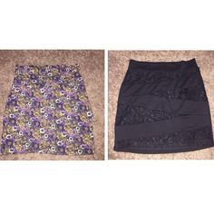 2 mini skirts for only $13!! 2 skirts for only $15! Both great for summer! You can wear them to the beach or dress them up and go out at night! Each sold separately in my closet with more pictures and info!  Willing to take offers! Skirts Mini