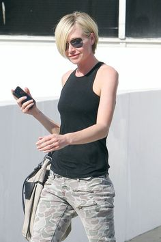 "Portia de Rossi Actress Portia De Rossi goes shopping in Beverly Hills where the ""Arrested Development"" star sported a cropped hair cut and ..."