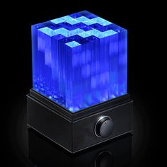 SuperNova Light Cube LED Bluetooth Speaker from Think Geek Geek Gadgets, Gadgets And Gizmos, Electronics Gadgets, Cool Gadgets, Future Gadgets, Office Gadgets, Electronics Accessories, Camping Gadgets, Travel Gadgets