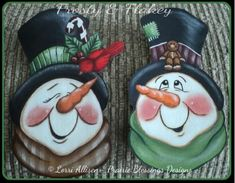 The Decorative Painting Store: Frosty & Flakey Pattern, Newly Added Painting Patterns / e-Patterns Snowman Christmas Ornaments, Snowman Crafts, Christmas Balls, Christmas Art, Christmas Wreaths, Christmas Decorations, Tole Painting Patterns, Dollar Store Christmas, Snowman Faces