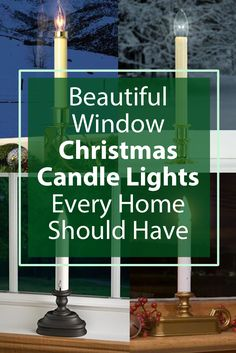 We have window candles in all our windows during the holidays. Got ...