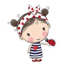 Miss Beetle heart plotter file - Plotten - Cartoon Cartoon Cartoon, Cute Cartoon Girl, Cartoon Drawings, Cute Drawings, Cute Images, Cute Pictures, Cute Clipart, Clipart Images, Clip Art