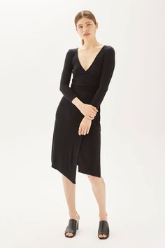 Belted Wrap Midi Dress - Dresses - Clothing - Topshop Europe