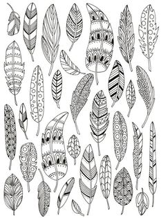 Zentangle feathers colouring page Art Journal Pages, Journal Ideas, Journal Prompts, Journal Layout, Doodle Patterns, Henna Patterns, Zentangle Patterns, Doodle Drawings, Hand Drawings