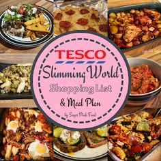 Tesco Slimming World Shopping List & Meal Plan. 7 Day Slimming World Meal plan with full shopping list Slimming World Meal Planner, Slimming World Tesco, Slimming World Shopping List, Slimming World Diet Plan, Slimming World Recipes Syn Free, Shopping Lists, Slimming Workd, Easy Slimming World Meals, Sw Meals