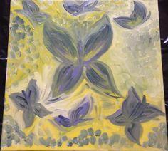 Farfalle notturne, olio su tela 40x40, prezzo 250 €