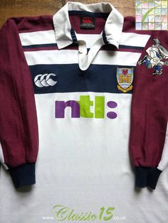 82247909ceb Relive Swansea Rugby Club s season with this vintage Canterbury home long  sleeve rugby shirt.