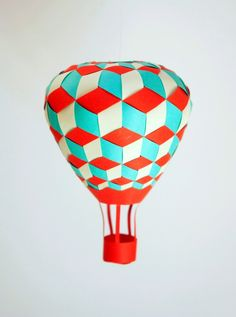 Triaxial Balloon DIY tutorial, pattern and video. Pattern for this balloon in triaxial weaving. The balloon is woven from three layers of paper - good to get kids thinking about spatial geometry. Diy For Kids, Crafts For Kids, Arts And Crafts, Paper Art, Paper Crafts, Diy Crafts, Cut Paper, Diy Projects To Try, Craft Projects