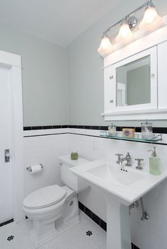 new home construction: A Vintage Bungalow Bathroom Renovation Small White Bathrooms, White Bathroom Decor, Bathroom Styling, Beautiful Bathrooms, Bathroom Interior Design, Small Bathroom, Bathroom Towels, Dream Bathrooms, Bathroom Wall