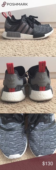 Adidas NMD R1 'Glitch' NMD Glitch Gray/Black/Red Us Men's 8.5 Worn 6 times  Great condition adidas Shoes