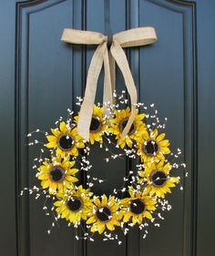 Sunflower Wreaths  Berry Wreath  Fall Decor  di twoinspireyou
