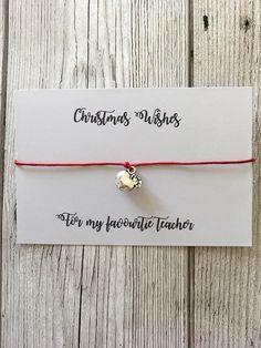 Christmas teacher gift, gift for teacher, favourite teacher gift, christmas bracelet, stocking filler, cheap teacher gift.