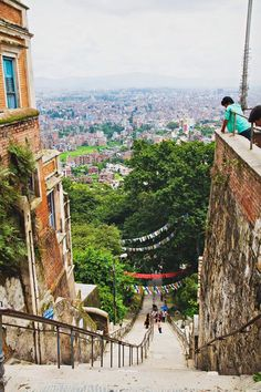 kathmandu - these 365 stairs nearly killed me. I was so psyched to be almost at the top that I almost didn't realize the guard accepting admissions payment on the steps! Oops