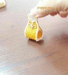 mini wicker bag made of bamboo and rattan.