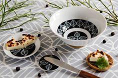 Rebers design BIRCH for Japanese Hasami Yaki porcelain / Scandinavian Pattern Collection