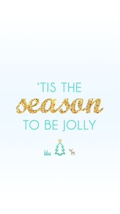 'Tis the season to be jolly | free winter holiday iPhone wallpapers