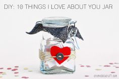 VALENTINE'S ~ 10 Things I Love About You Jar