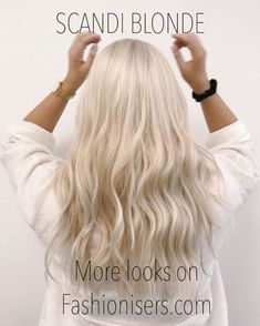 Why Scandi blonde is the new platinum hair trend well all want to try this summer Blonde hair models Summer Blonde Hair, Bright Blonde Hair, Platinum Blonde Hair Color, White Blonde Hair, Bleach Blonde Hair, Dyed Blonde Hair, Blonde Hair Looks, Creamy Blonde, Corte Bob