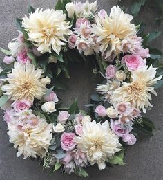 great vancouver florist A pretty wreath designed by Gloria. Love the #cafeaulait dahlias #gardenroses and bridal blush protea. #flowerfactory #floralwreath by @flowerfactory  #vancouverflorist #vancouverflorist #vancouverwedding #vancouverweddingdosanddonts