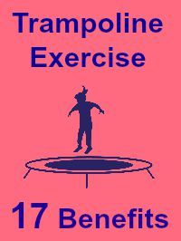 trampoline# exercise  benefits So if you are one of the many women who suffer due to hormonal imbalance, I strongly recommend rebounding to help solve your problem. Rebounding also lowers blood pressure by aiding blood circulation.  It improves efficiency with which the body burns carbohydrates and can help lower the blood pressure