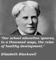 Free Elizabeth Blackwell papers, essays, and research papers.