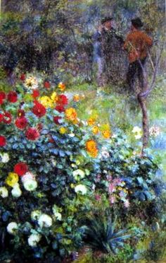 Garden in the Rue Cortot - Renoir ~There's something so nostalgic about this that I love. It's like... a painting of a memory or something.