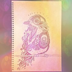 Late night #doodle sech. #drawing #bird #painting #doodling #art #artwork #artshare #instaart #artistsofig #vegansofig #sketchbook #sketch #details #mhendi #aztec #paisley #Padgram